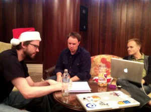 Team Santa creating the x-post function, among other things, in Budapest