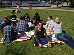 Team Data enjoying the sun in Stockholm